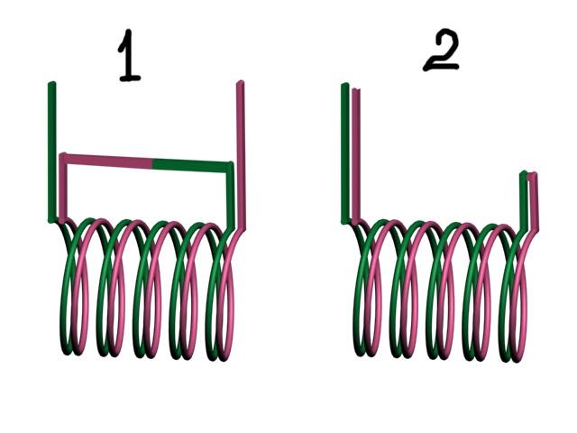 Схема включения бифилярной обмотки тесла.