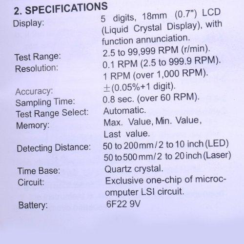 DT-2234c+ digital tachometer