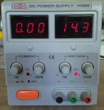 HY5003, Источник питания, 0-50V-3A 2xLED